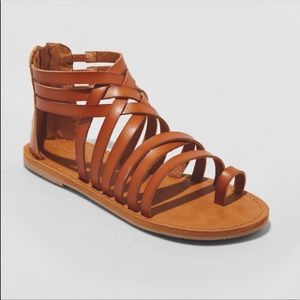 Universal Thread Cognac Makena Gladiator Sandals
